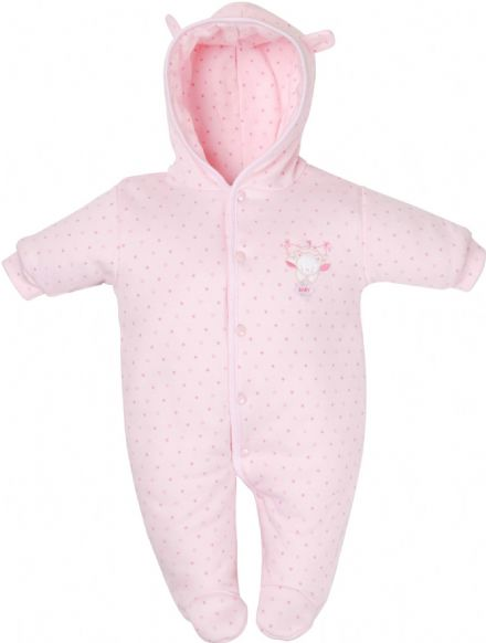 Tiny Bear Cotton Pramsuit